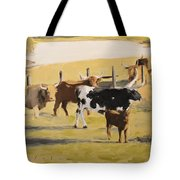 The Longhorn Cows Tote Bag