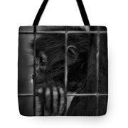 The Look Of Captivity Black And White Tote Bag