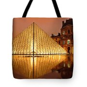 The Louvre By Night Tote Bag