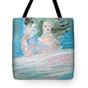 The Lovers And The Bed Tote Bag