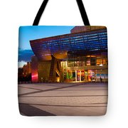 The Lowry Complex At Dusk, Salford Tote Bag