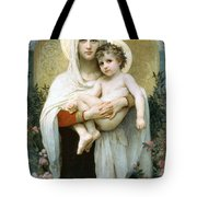 The Madonna Of The Roses Tote Bag