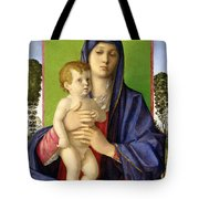 The Madonna Of The Trees Tote Bag by Giovanni Bellini