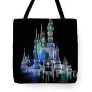 The Magic Kingdom Castle In Frosty Dark Blue Walt Disney World Tote Bag