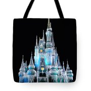 The Magic Kingdom Castle In Frosty Light Blue Walt Disney World Tote Bag