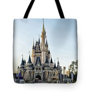 The Magic Kingdom Castle On A Beautiful Summer Day Tote Bag