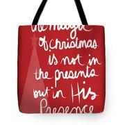 The Magic Of Christmas- Greeting Card Tote Bag