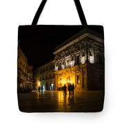 The Magical Duomo Square In Ortygia Syracuse Sicily Tote Bag