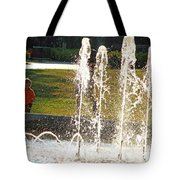 The Magical World Of A Boy With His Father Tote Bag