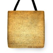The Magna Carta 1215 Tote Bag