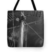 The Mainmast Of The Amazing Grace In Infrared Tote Bag