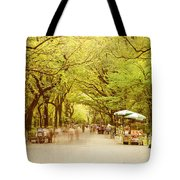 The Mall In Central Park New York City Fall Foliage Tote Bag