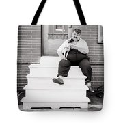 The Man With The Little Dog Circa 1938  Tote Bag