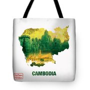 The Map Of Cambodia 2 Tote Bag