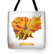 The Map Of Cambodia Tote Bag