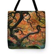 The Maple Tree At Portland Japanese Garden Tote Bag