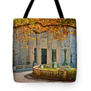 The Marble House In Autumn Tote Bag