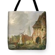 The March Gate In Buxtehude Tote Bag by Adolph Kiste