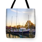 The Marina At St Michael's Maryland Tote Bag by Bill Cannon