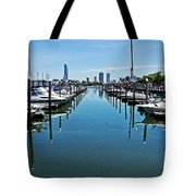The Marina At The Golden Nugget Tote Bag by Tom Gari Gallery-Three-Photography