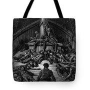 The Mariner Gazes On His Dead Companions And Laments The Curse Of His Survival While All His Fellow  Tote Bag by Gustave Dore