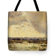The Marsh In The Souterraine, 1842 Tote Bag by Theodore Rousseau