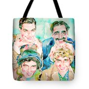 The Marx Brothers / Watercolor Painting Tote Bag
