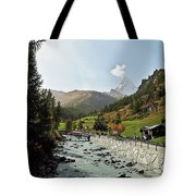 The Matter Vispa And The Matterhorn Tote Bag