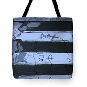 The Max Face In Cyan Tote Bag