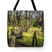 The Meadow Fence Tote Bag