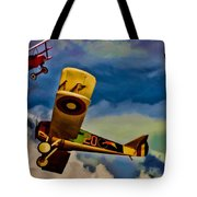 The Mean French Skies Tote Bag