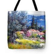 The Med Sea In Summertime Tote Bag