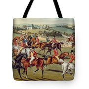'the Meet' Plate I From 'fox Hunting' Tote Bag