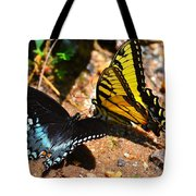The Meeting Of The Butterflies Tote Bag