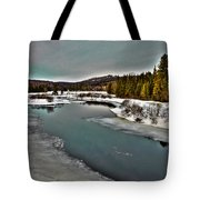 The Melting Of The Moose River In The Adirondacks Tote Bag