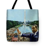 The Memorial Speech Tote Bag by Colin Bootman