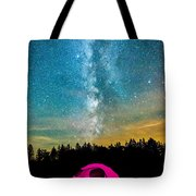 The Midnight Camper Pink Tent Tote Bag