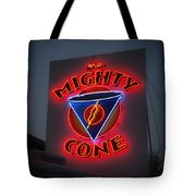 The Mighty Cone Of Austin Texas Tote Bag