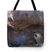 The Mighty King Roars Tote Bag