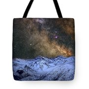 The Milky Way Over The High Mountains Tote Bag