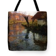 The Mill Stream Tote Bag by Fritz Thaulow