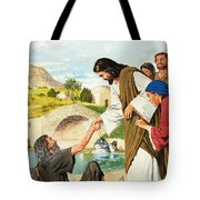The Miracles Of Jesus  Making The Lame Man Walk Tote Bag