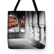 The Monastery In Autumn Tote Bag