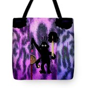 The Monkey Found The Lost Face Tote Bag