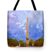 The Monument's Parking Lot Digital Art By Cathy Anderson Tote Bag