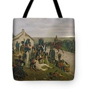 The Morning Of The Battle Of Waterloo Tote Bag