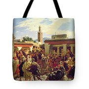 The Moroccan Storyteller Tote Bag by Alfred Dehodencq