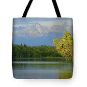 The Mountain Guards The River Tote Bag