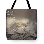 The Mountains Are Calling And I Must Go  John Muir Vintage Tote Bag