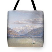 The Mountains Of St Gingolph Tote Bag
